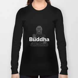 The Buddha. Line Low Poly Version. Long Sleeve T-shirt
