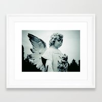 outdoor Framed Art Prints featuring Outdoor angel by Vorona Photography