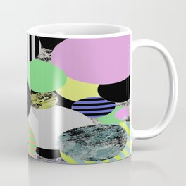 Cluttered Circles - Abstract, Geometric, Pop Art Style Coffee Mug