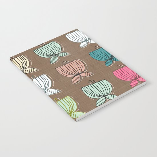 flower cups brown Notebook