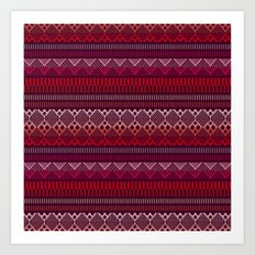 Weave (brown) Art Print