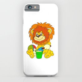 Cartoon lion iPhone Case