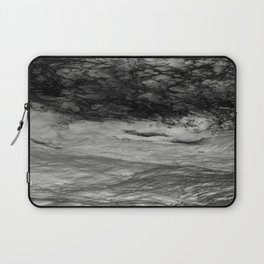 Black Tempest - Abtract Ocean Sea Pattern in Black And White Laptop Sleeve