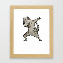 Funny Dabbing Irish Wolfhound Dog Dab Dance Framed Art Print