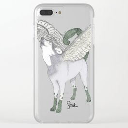 Zodiacal Chimera: The wolf Clear iPhone Case
