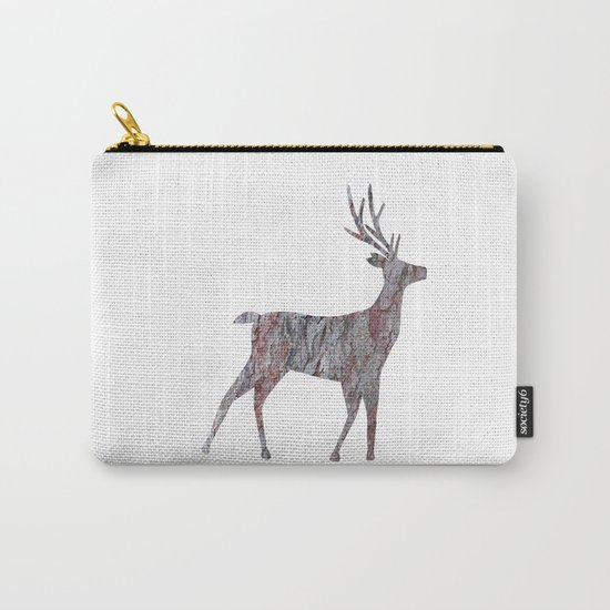 deer silhouette stag pine bark Carry-All Pouch