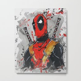 Merc With A Mouth Metal Print