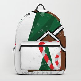 merry christmas vector illustration Backpack