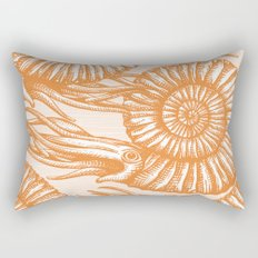 AMMONITE COLLECTION ORANGE Rectangular Pillow