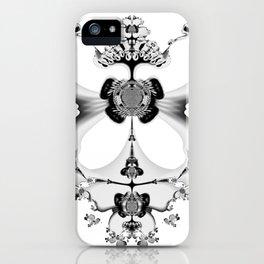 Fractal Art - Angel and Skelleton iPhone Case
