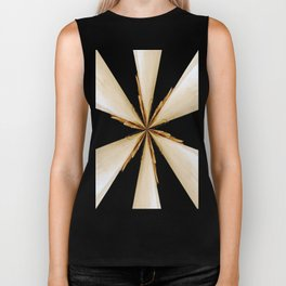 Black, White and Gold Star Biker Tank