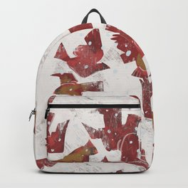 Snowy Cardinals Backpack