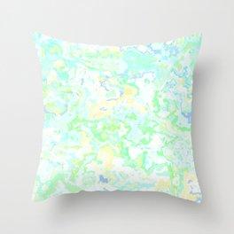 Spring Pastel Marble Throw Pillow