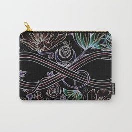 Infinity Moon Garden in Pastel at Midnight Carry-All Pouch