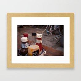 A little bit saucy Framed Art Print