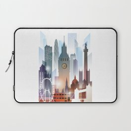 London city skyline, United Kingdom Laptop Sleeve