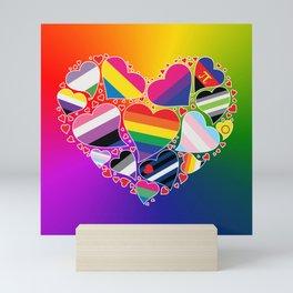 LGBTQA+ Community Pride Heart Mini Art Print