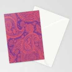 Purple Paisley Stationery Cards