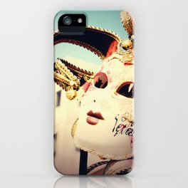 Carnival Mask Venice Italy Travel Photography iPhone Case