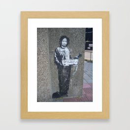 Banksy Hitchhiker to Anywhere Framed Art Print