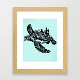 Sea Turtle City Framed Art Print