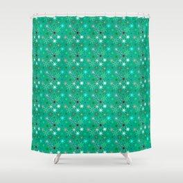 Modern Starburst Print, Turquoise and Aqua Shower Curtain