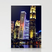 singapore Stationery Cards featuring Singapore Skyline by Mark Bagshaw Photography