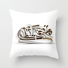 3D GRAFFITI - NO TIME Throw Pillow