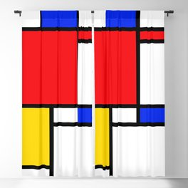 Mondrian Blackout Curtain