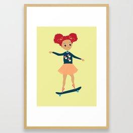 Girls Skate Too Framed Art Print