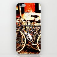 bikes iPhone & iPod Skins featuring bikes by Eva Lesko