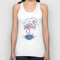 Tropical Paradise Flamingo Unisex Tank Top