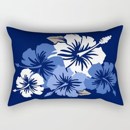 Epic Hibiscus Hawaiian Floral Aloha Shirt Print Rectangular Pillow