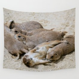 Prairie dog love Wall Tapestry