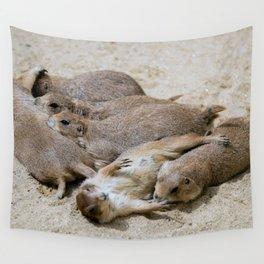 Prairie dog love Wall Tapestry