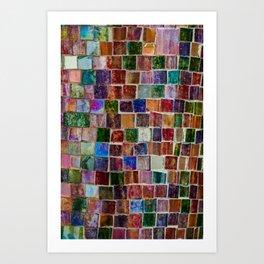 Glass tiles Art Print
