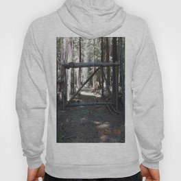 old time natural log style property gate Hoody