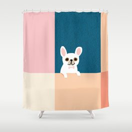 Little_French_Bulldog_Love_Minimalism_001 Shower Curtain