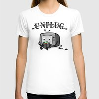 literary T-shirts featuring Unplug by littleclyde