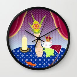 King of Wands on the Table Again Wall Clock