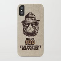grumpy iPhone & iPod Cases featuring Grumpy PSA by Eric Fan