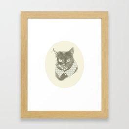 Miss Kitty Framed Art Print