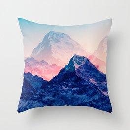 Dreamy mountains of the Himalaya. Digital artwork. Throw Pillow