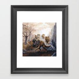 Pack of Wolves Framed Art Print