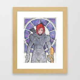 Commander Shepard Framed Art Print