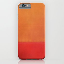 1954 Ochre Red on Red by Mark Rothko HD iPhone Case