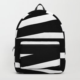 Abstract black & white Lines Stripes Pattern - Mix and Match with Simplicity of Life Backpack