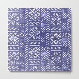Line Mud Cloth // Iris Metal Print