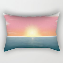 Peaceful Current Rectangular Pillow