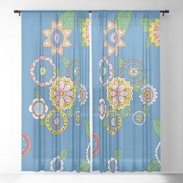 Hippie Vibes Sheer Curtain